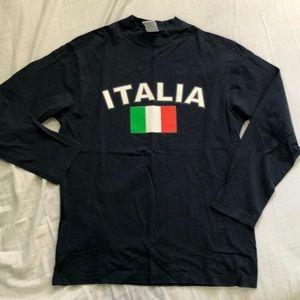 Vintage italia graphic long sleeve tee